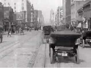 1905 ride on a cable car