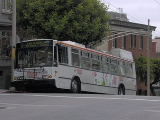 1 California trolley bus