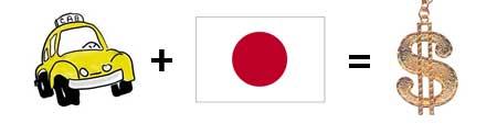 Taxi + Japan =Money