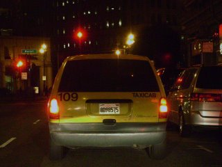 An illegal taxicab operating on the streets of San Francisco.