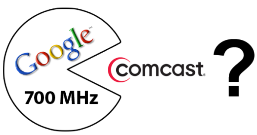 Could Google with a slice of the 700 MHz spectrum eat Comcast instead of mobile operators?