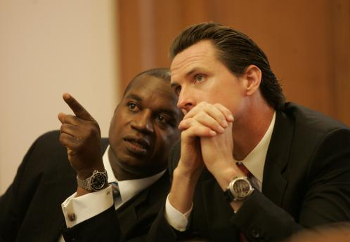 Muni Chief Nat Ford and Mayor Gavin Newsom