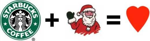 starbucks plus santa equalslove