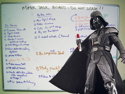 Vader leads a meeting.