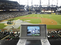 nintendo ds at a baseball game (AP)