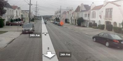 24th Avenue between Kirkham and Lawton, San Francisco, CA